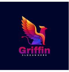 Logo griffin gradient colorful style vector
