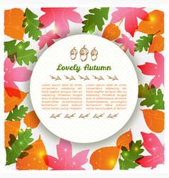 Lovely autumn round card vector