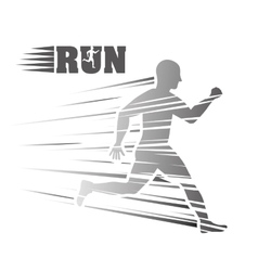 Man of side running sport concept graphic vector