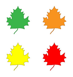 maple leaf color sign set 608 vector image
