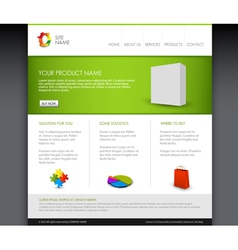 modern product homepage vector image