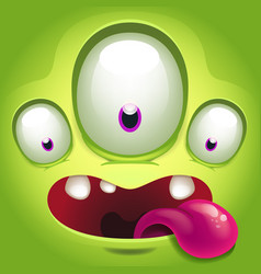Monster face vector
