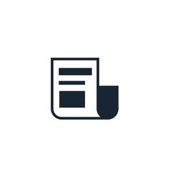 News feed creative icon from social media vector