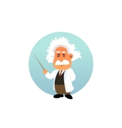 Old professor funny vector image