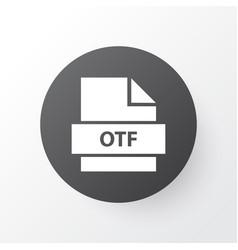 Otf icon symbol premium quality isolated folio vector