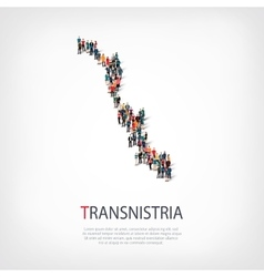People map country Transnistria vector