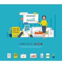Project management investment finance education vector image