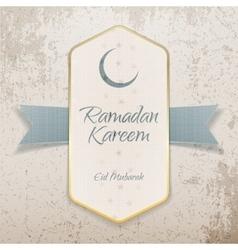 Ramadan Kareem Eid Mubarak textile Poster vector