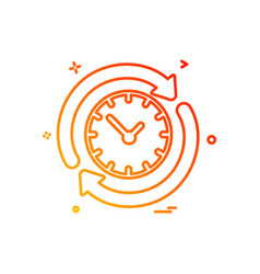 reset icon design vector image