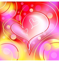 romantic heart background vector image