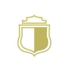 royal crown shield vector image
