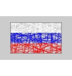 Russia flag design concept vector image