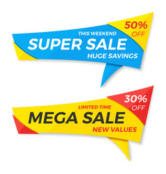 Sale label price tag banner badge template vector