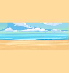 Sea coastal landscape flat style vector
