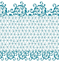 Seamless lace pattern with floral ornaments vector