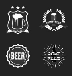 set beer logo template design vector image