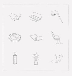 Set of beauty icons line style symbols with vector