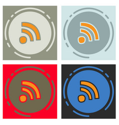 set of unusual look wifi signal vector image