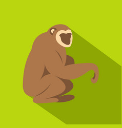 Sitting monkey icon flat style vector