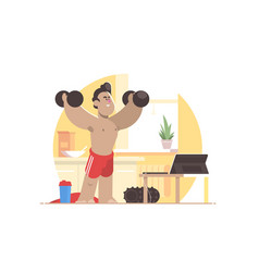 Sports workout at home vector
