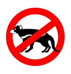 Stop tasmanian devil wild animal is forbidden one vector