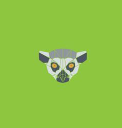symmetrical of lori lemur vector image