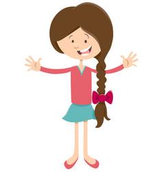 teen girl cartoon character vector image