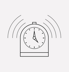 Timer icon line element of vector