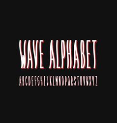 Wave font alphabet vector
