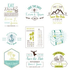 Wedding Vintage Card Invitation Collection vector image