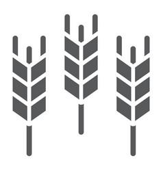 Wheat glyph icon grain and gluten bread sign vector