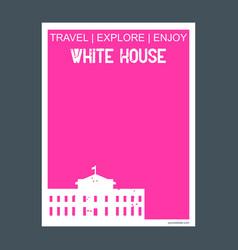 white house washington dc usa monument landmark vector image