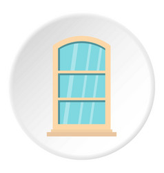 White narrow window icon circle vector