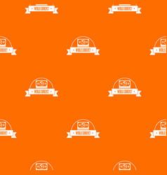 world currency pattern orange vector image