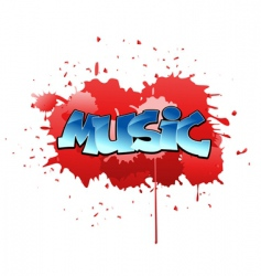 graffiti music background vector image