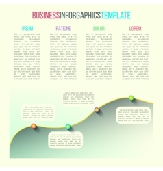 graph infographic template made in modern vector image vector image