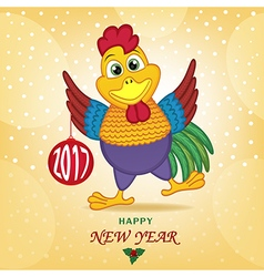 Rooster symbol of 2017 year vector