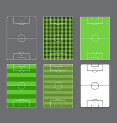 Soccer fields design vector