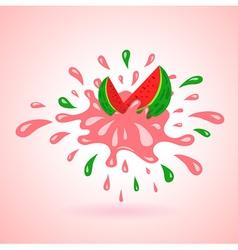 watermelon splash element vector image vector image