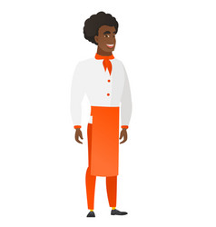 young african-american happy chef cook vector image vector image