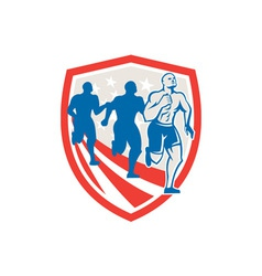 American Crossfit Runners USA Flag Retro vector image vector image