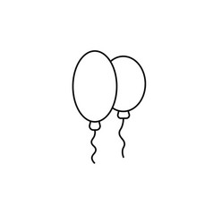 baloons icon vector image