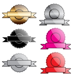 Blank award labels vector image vector image