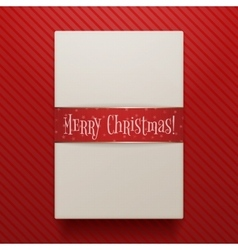 Christmas realistic Paper Gift Box Template vector image