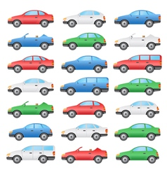 colored cars vector image vector image