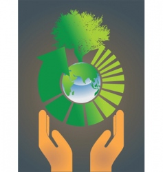 hand holding earth globe 4 vector image vector image