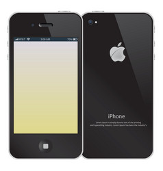 iphone color vector image