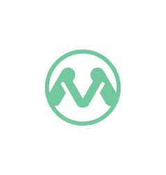 letter m initial logo vector image vector image