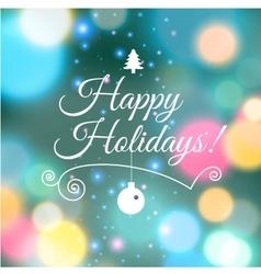Merry Christmas e-card template vector image vector image