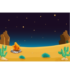 Night time Desert vector image vector image